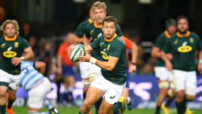 Handre Pollard of South Africa during a Rugby Championship match in Durban.