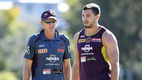 Corey Oates says he's not keen to stay if Wayne Bennett does not remain coach of the Broncos. Picture: AAP Image/Dave Hunt