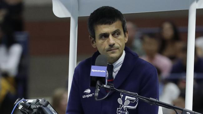 Chair umpire Carlos Ramos. Picture: AP