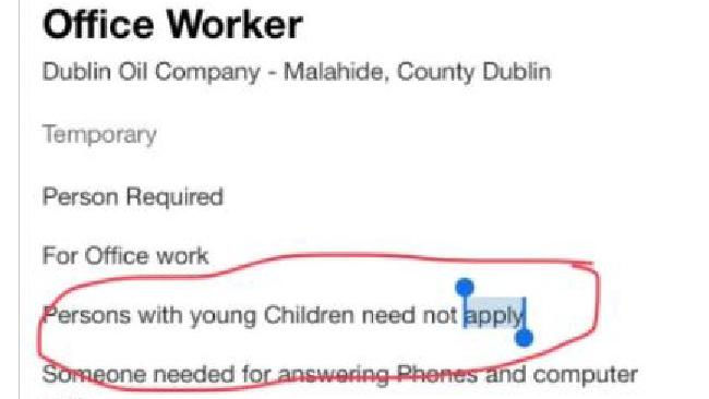 The job ad posted on Indeed.