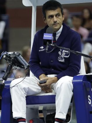 Chair umpire Carlos Ramos. Picture: AP