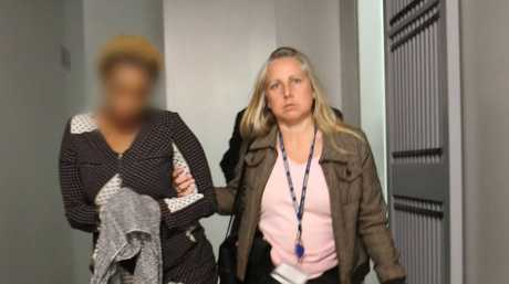One of the women arrested in NSW police raids across the state related to a $3 million business fraud scam.