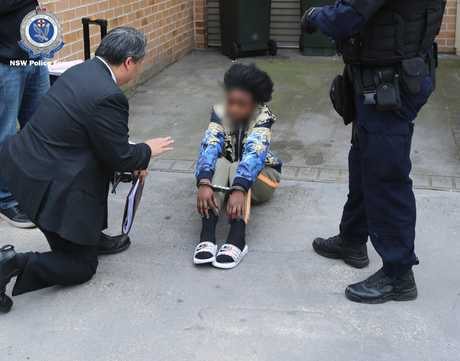 Police arrested people at Villawood, Granville and Chester Hill during raids to crack an email scam.