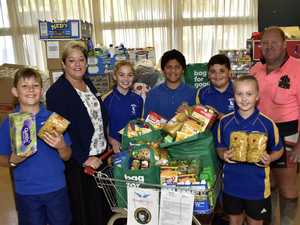 Toowoomba school gives bus full of food to drought appeal