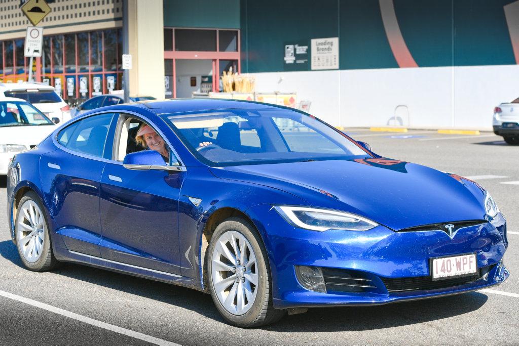 ELECTRIC GRAN - Sylvia Wilson drove her Tesla battery powered