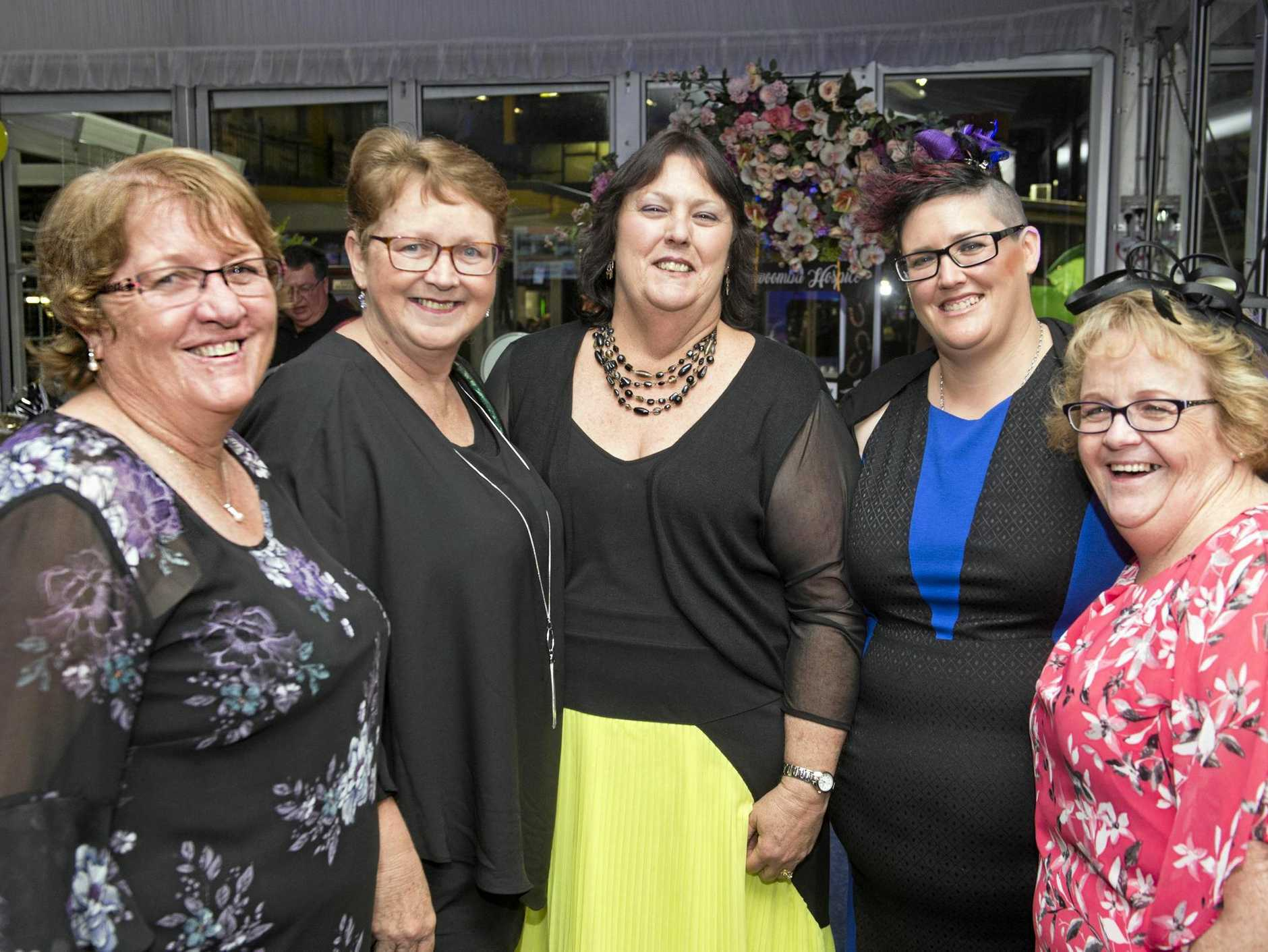 BACKING A WINNER: Supporting Toowoomba Hospice are (from left) Tracey Ferguson, Donna Lee, Roxanne McCarthy, Krystal McCarthy and Cheryl Morrish at the Toowoomba Hospice race day at Clifford Park.