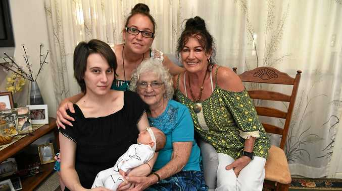 newborn bub makes 5 generations for family