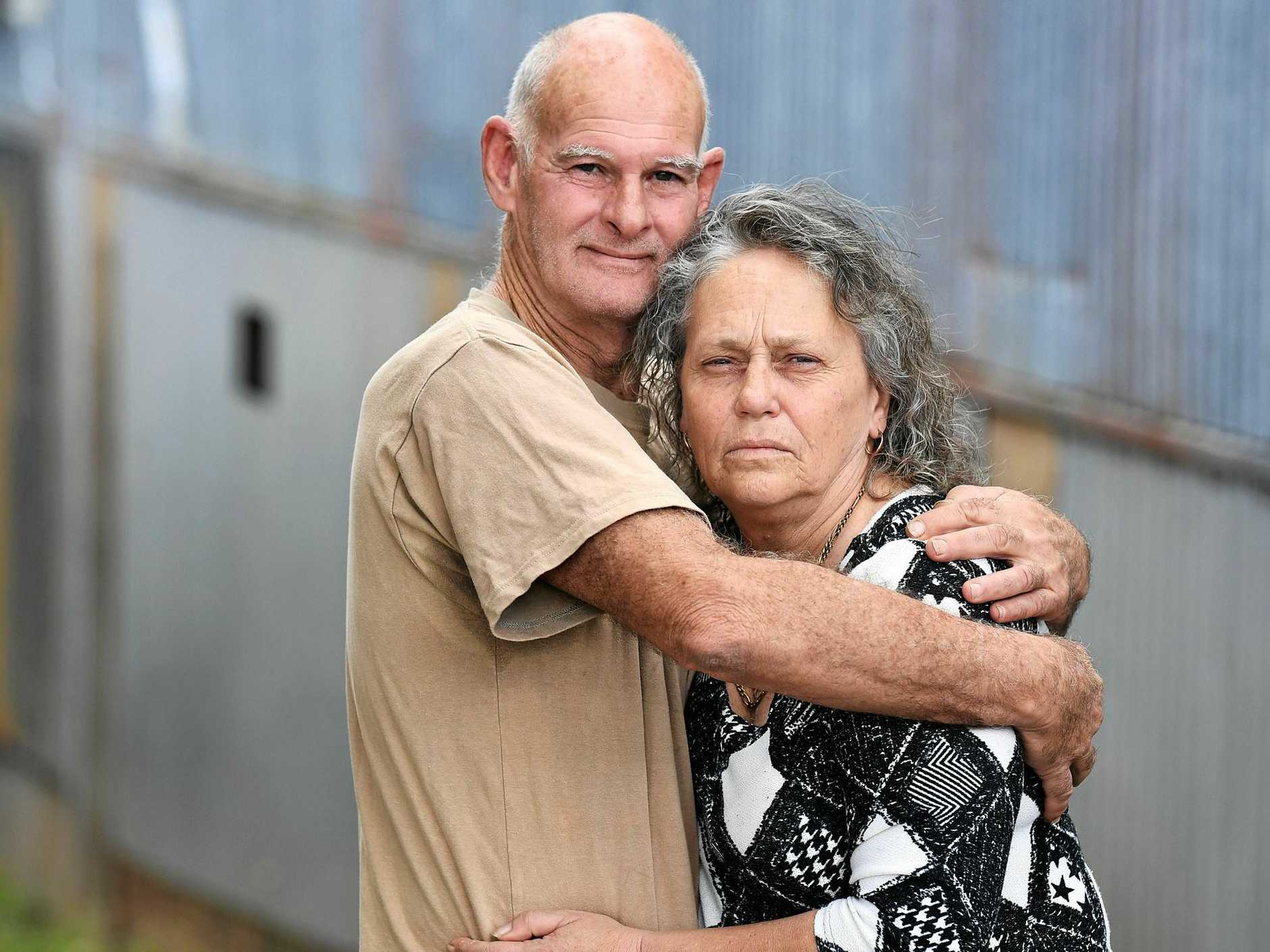KEEPS GETTING WORSE: Ross Piper and Roslyn Staveley are out of patience with the at-home care providers in charge of looking after Roslyn's 96-year-old mother Betty.