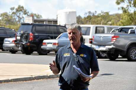 AWU representative Tony Beers at Gladstone Hospital.