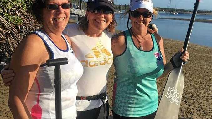 Last training session before the last regatta with Bronnie Hornell, coach Jen Hansen and Shell Hardman.