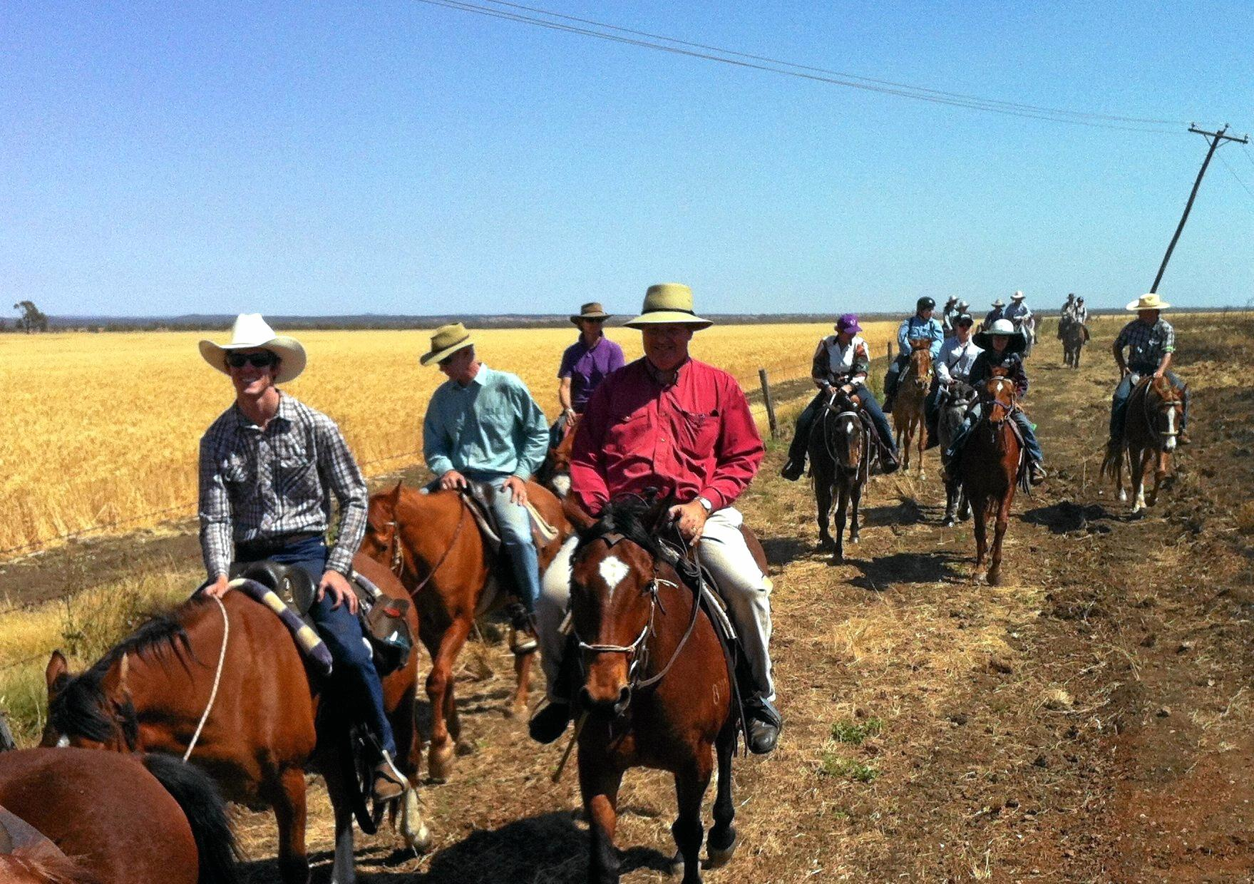 GIDDY-UP: The SQU Clermont to Capella Horse Ride returns after a four year hiatus.