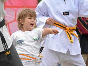 Epilepsy no weakness for three-year-old karate kid