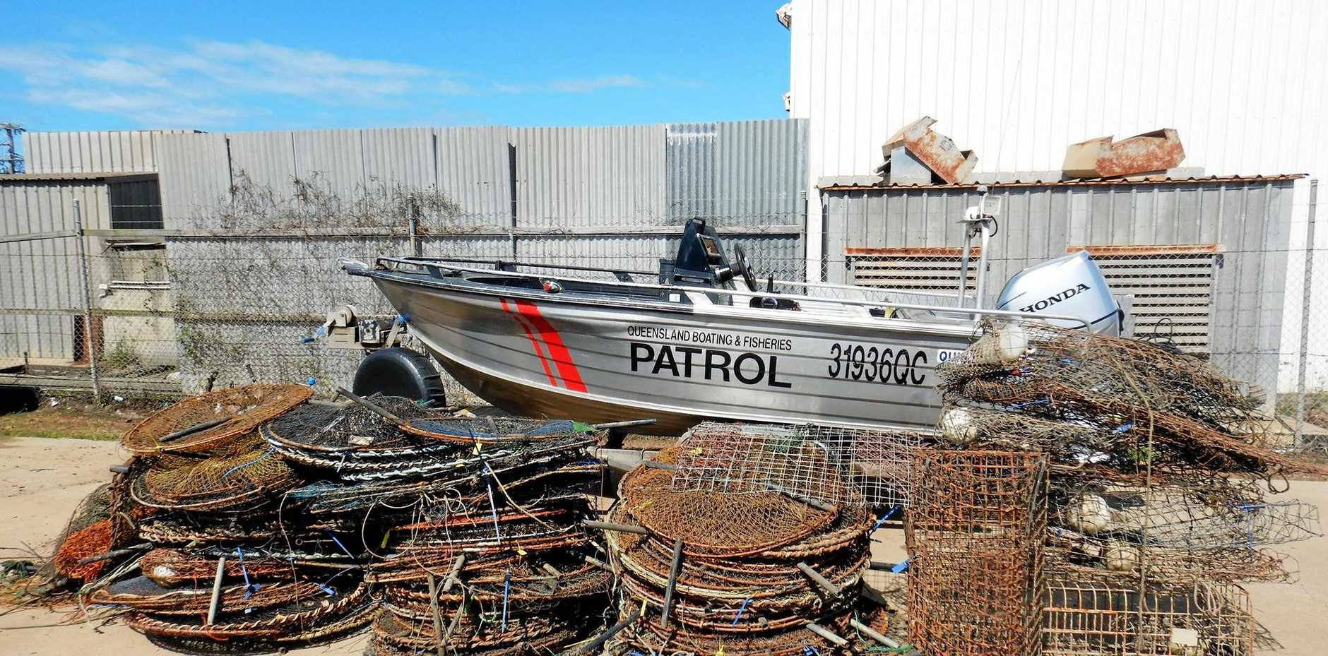 POT PATROL: Fisheries Queensland conducted a four-day operation targeting derelict and unmarked crab apparatus within Mackay's Net Free Zone from Victor Creek, Seaforth to St Helens. This is the staggering result of the officers' hard work.