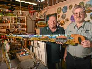 Handiwork sale keeps men chipping away