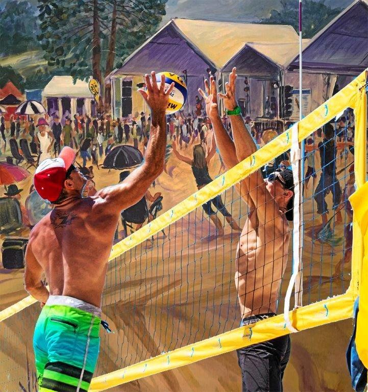 SPORTS PIONEERS: Bush volleyball - sporting pioneers settle in to the Mary Valley sporting frontier at Mitchell Creek