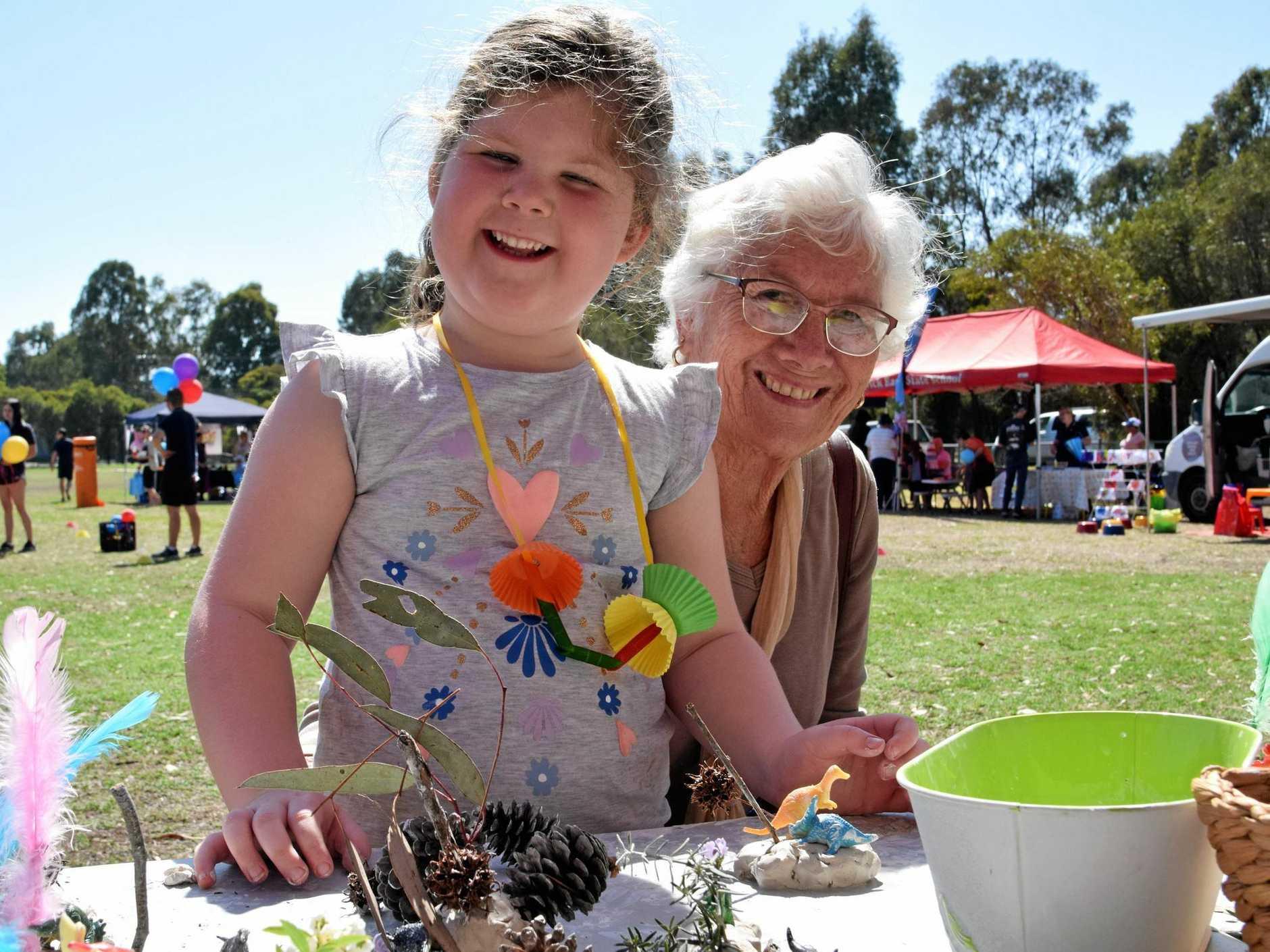 Taavi Pullen with her nanna Monica Biutterworth.