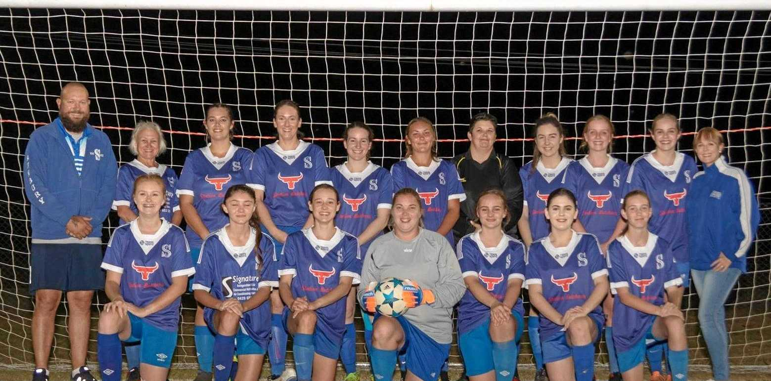 PERFECT PEAK: Sunbury Blues' Fraser Coast League Div 1 Ladies team finished fourth on the table, but beat United Warriors and Bayside Strikers in consecutive weeks to reach the grand final.