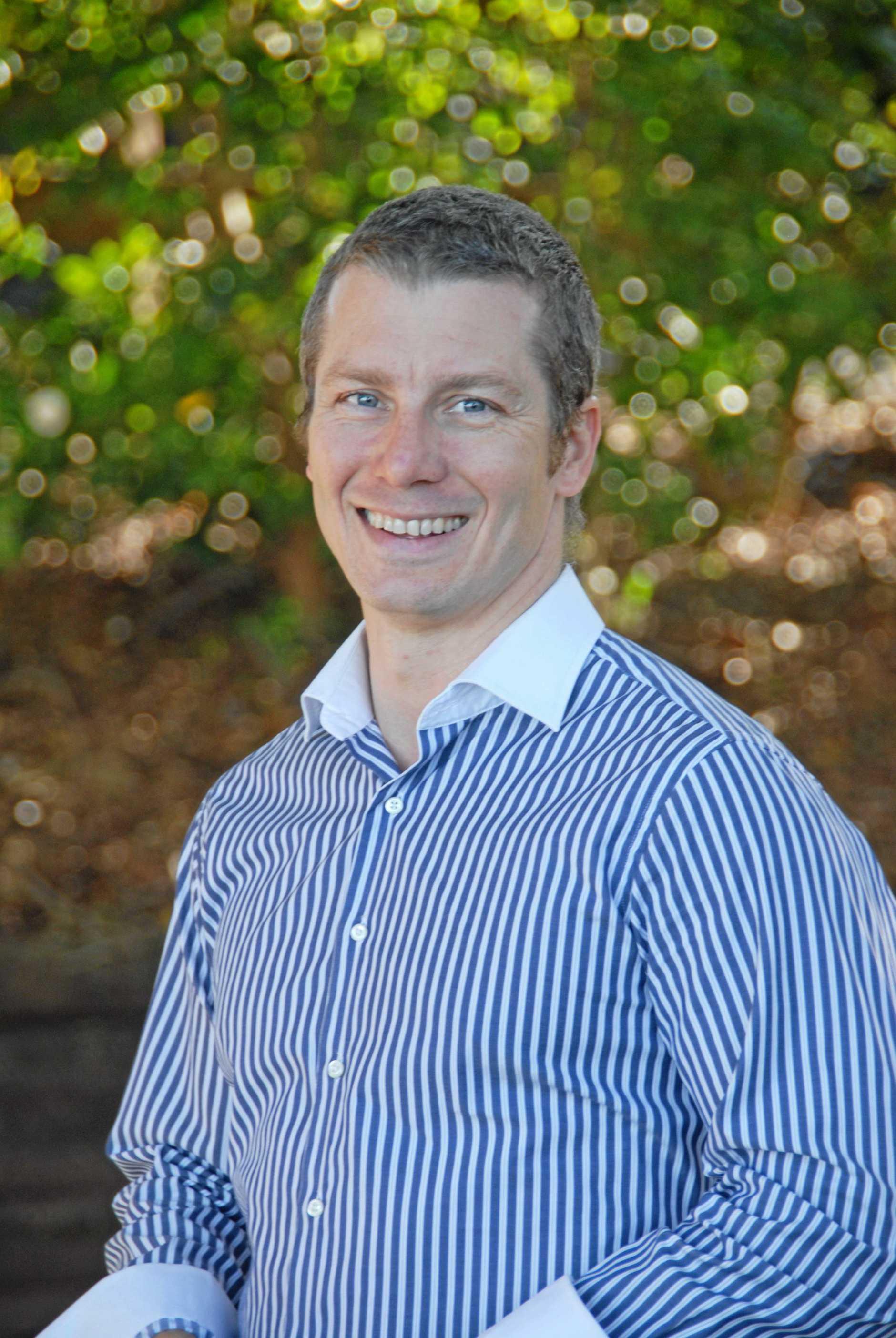ALTERNATIVE: Liberal councillor James Owen hopes to become Tweed's next mayor.