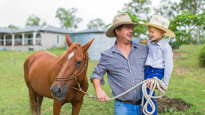 FOR THE FARMERS: Micha Middelbosch with his son Max.