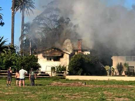 Children from the Murwillumbah Early Education Centre were evacuated after a fire broke out at a neighbouring property.