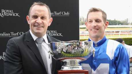 Winx has taken Chris Waller and jockey Hugh Bowman on the ride of the lives. Picture: Getty Images