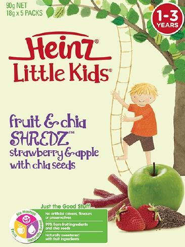 The fruit snacks Heinz came under fire for because they were mostly made up of sugar.