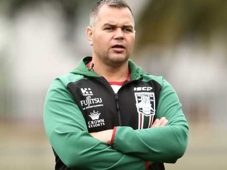 Rabbitohs coach Anthony Seibold's preparation to play the Dragons has been thrown into disarray. There is no suggestion he has any connection to the woman's allegations.