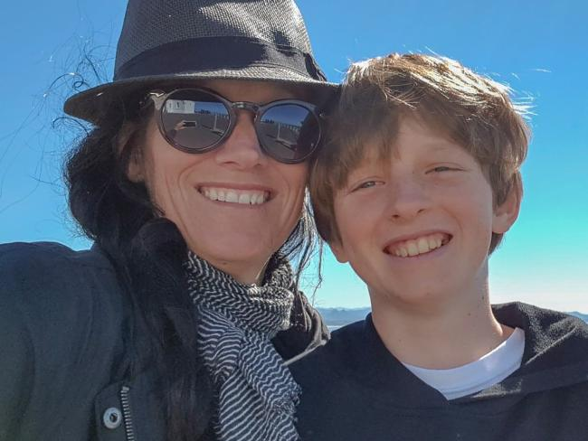Arlian with his mum Karin, who is a professional filmmaker.