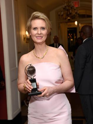 Cynthia Nixon with her Tony Award. Picture: Getty