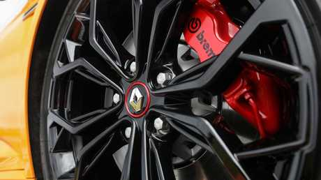 The Renault Megane RS280 Cup gets red brake calipers and two-piece bio-material discs, but they are the same size as the Sport Chassis models. Picture: Supplied.