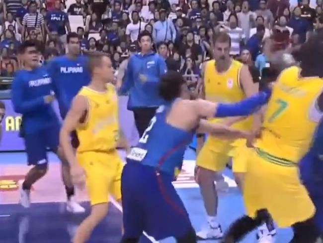 Last time the Boomers played, fights between players, coaches and officials broke out.
