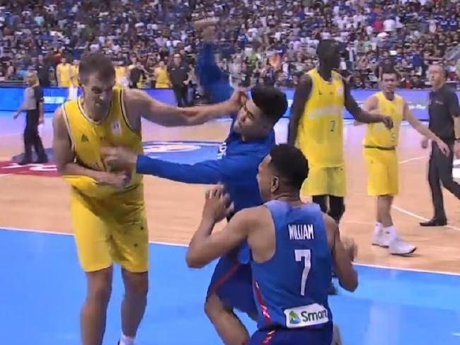 The Boomers' clash was far less eventful than their last outing in the Philippines