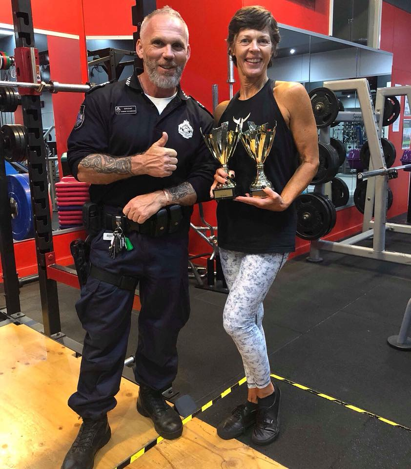 Deb brown has been training at the community gym, PCYC.