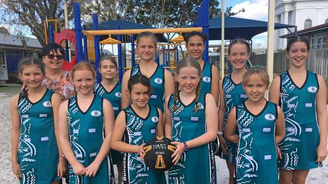 The St Joseph's team that will get to meet Laura Geitz. Coach Cherie Clancy (back), Ally McPhee, Mila Rose, Lily Orchard, Tia Saint, Jada Critchlow. Jordan Torok (front), Lana Campbell, Laura Stack, Zoe Wyatt and Grace Duffy.