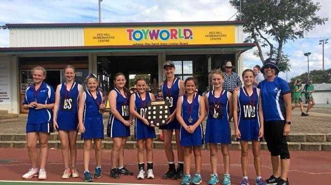 The Norville Sapphires winning a Central Queensland regional shield earlier this year.