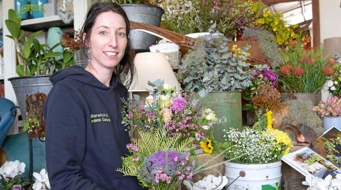PRETTY AS A PICTURE: Ellen Waters is heading up Twig and Bud, the new florist based at Warwick's Gardens Galore.
