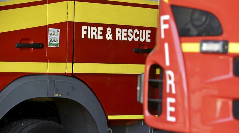 LARGE FIRE: Crews are on scene at a large grass fire on the Bruce Highway.