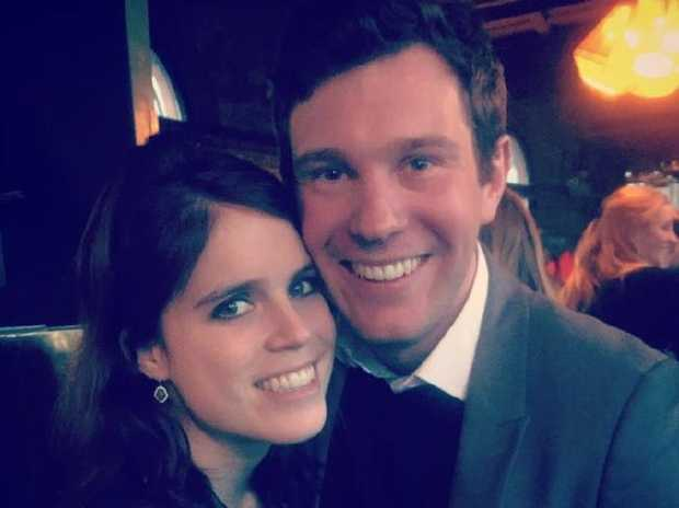 Princess Eugenie and Jack Brooksbank. Picture: Twitter