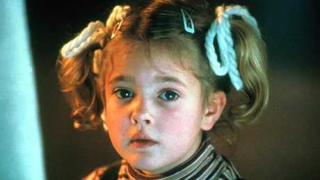 Barrymore in her breakout role in E.T.