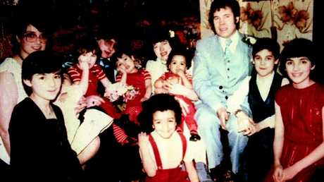 The West family pictured at wedding of Anne-Marie, daughter of serial killer Fred West, his second wife Rose is pictured back left and their daughter Heather is at far right.