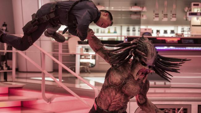This image released by 20th Century Fox shows a scene from The Predator. Pictured: Kimberley French/20th Century Fox
