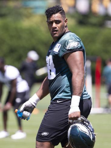 Jordan Mailata has stunned the NFL world with his quick learning. Picture: Getty