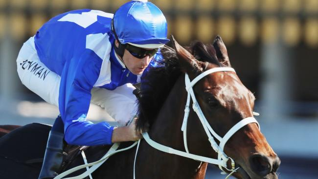 Hugh Bowman and champion mare Winx. Picture: Getty Images