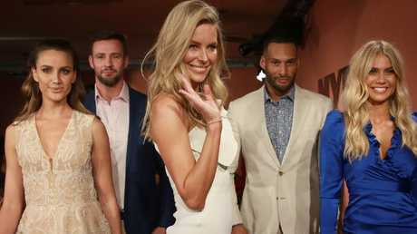 See ya! Jennifer Hawkins at her final show for Myer in August. Picture: Toby Zerna