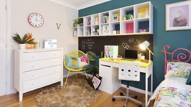 Bright and beautiful with a tropical theme, the bedroom is ideal for a teen. Photos: White Knight