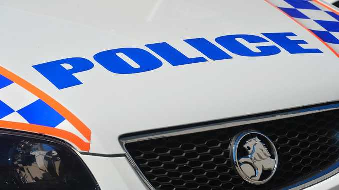 A police officer was punched in the face by an aggressive offender while on patrol in Townsville.