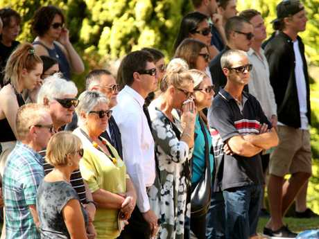 Mourners gathered in Port Macquarie for the funeral of Sinead McNamara. Picture: Nathan Edwards