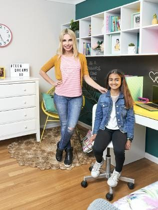 Cherie Barber with 11-year-old Ava in the new-look bedroom ...