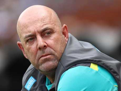 Former Australian coach Darren Lehmann allegedly spoke to England counterpart Trevor Bayliss about the exchange. Picture: Getty