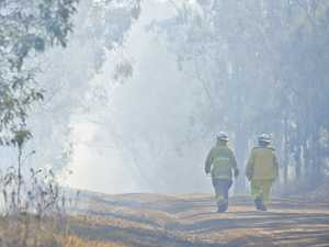 Ongoing grass fire a smoke hazard for drivers, residents